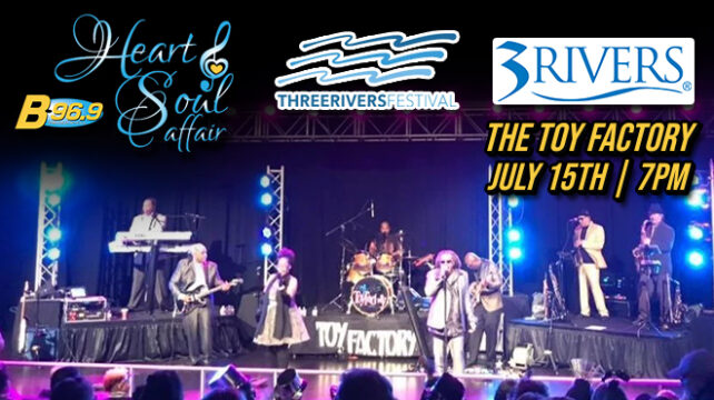 Heart and Soul Affair featuring The Toy Factory | July 15th 7pm
