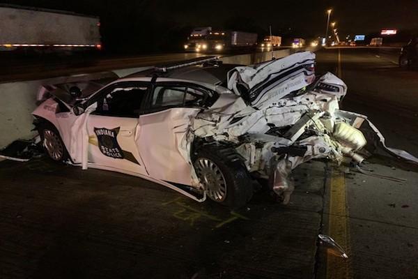 Indiana State Trooper hurt in crash on I-80/94